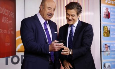 """TODAY -- Pictured: (l-r) Dr. Phil McGraw and Dr. Mehmet Oz appear on NBC News' """"Today"""" show -- (Photo by: Peter Kramer/NBC/NBC NewsWire via Getty Images)"""